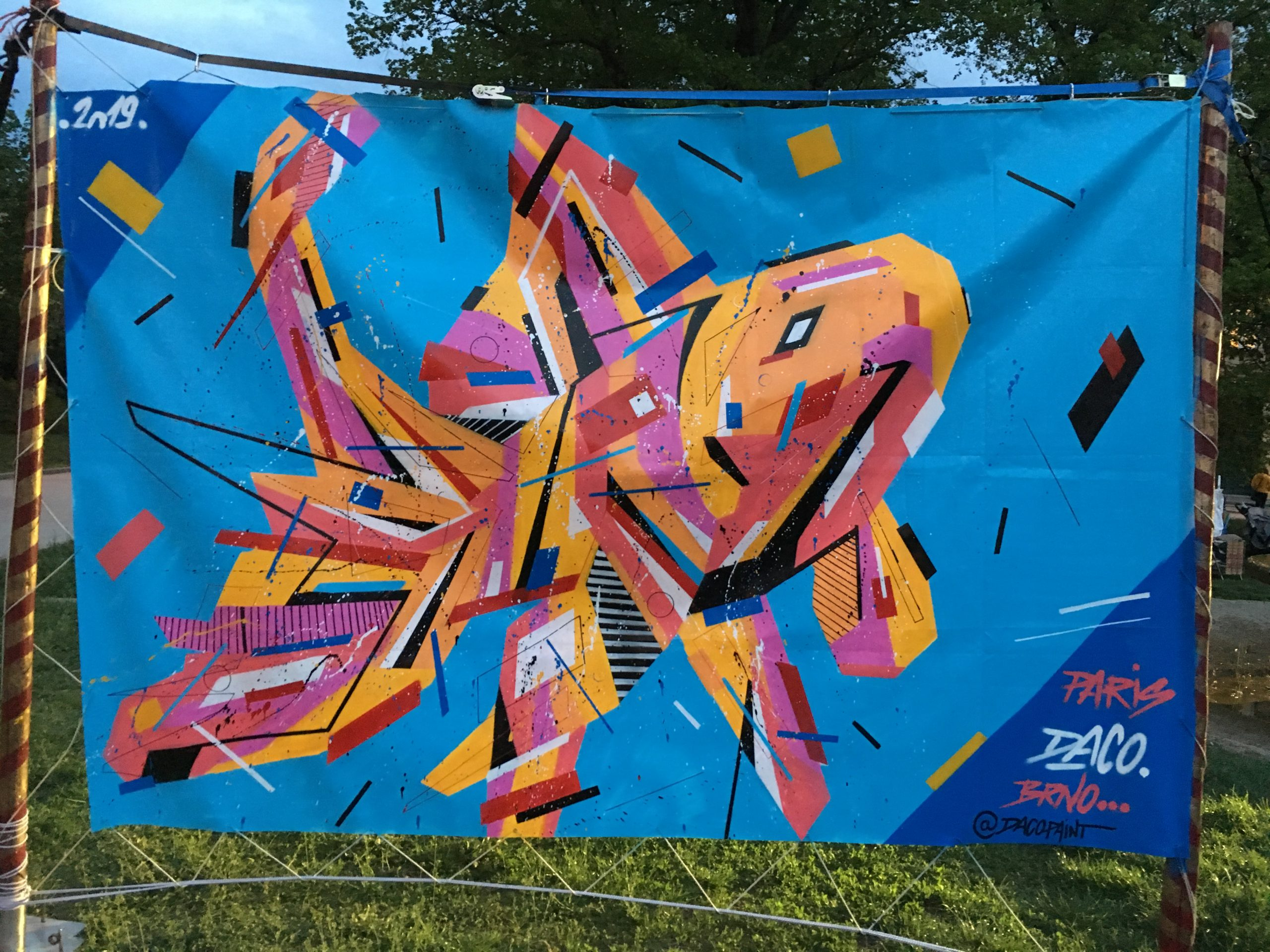 Fresque Graffaune Graffiti poisson réalisée par Daco