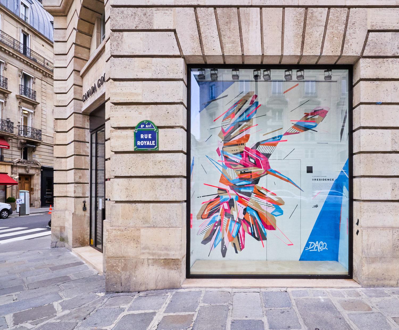 Fresque Graffaune Graffiti colibri réalisée par Daco
