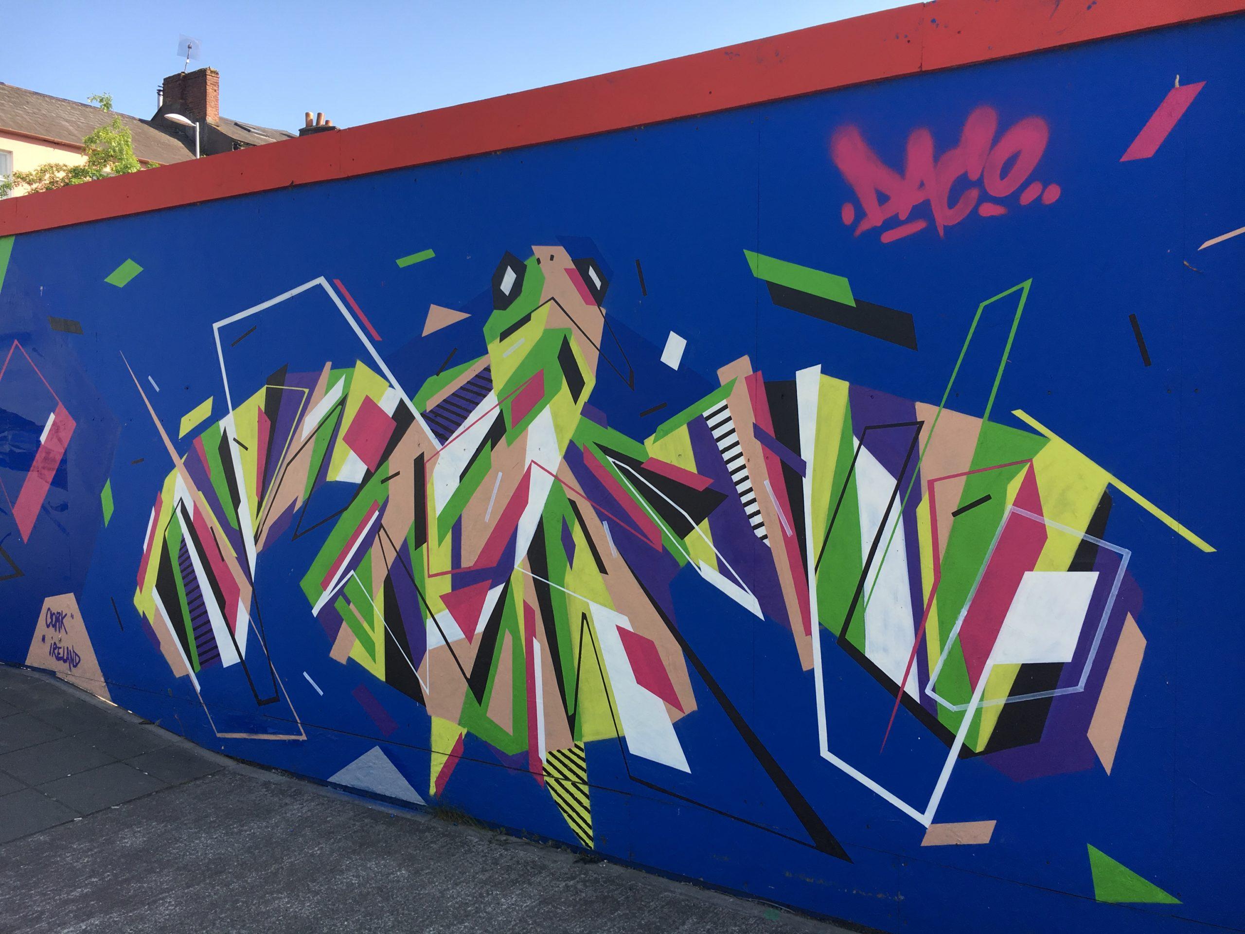 Fresque Graffaune Graffiti tortue réalisée par Daco