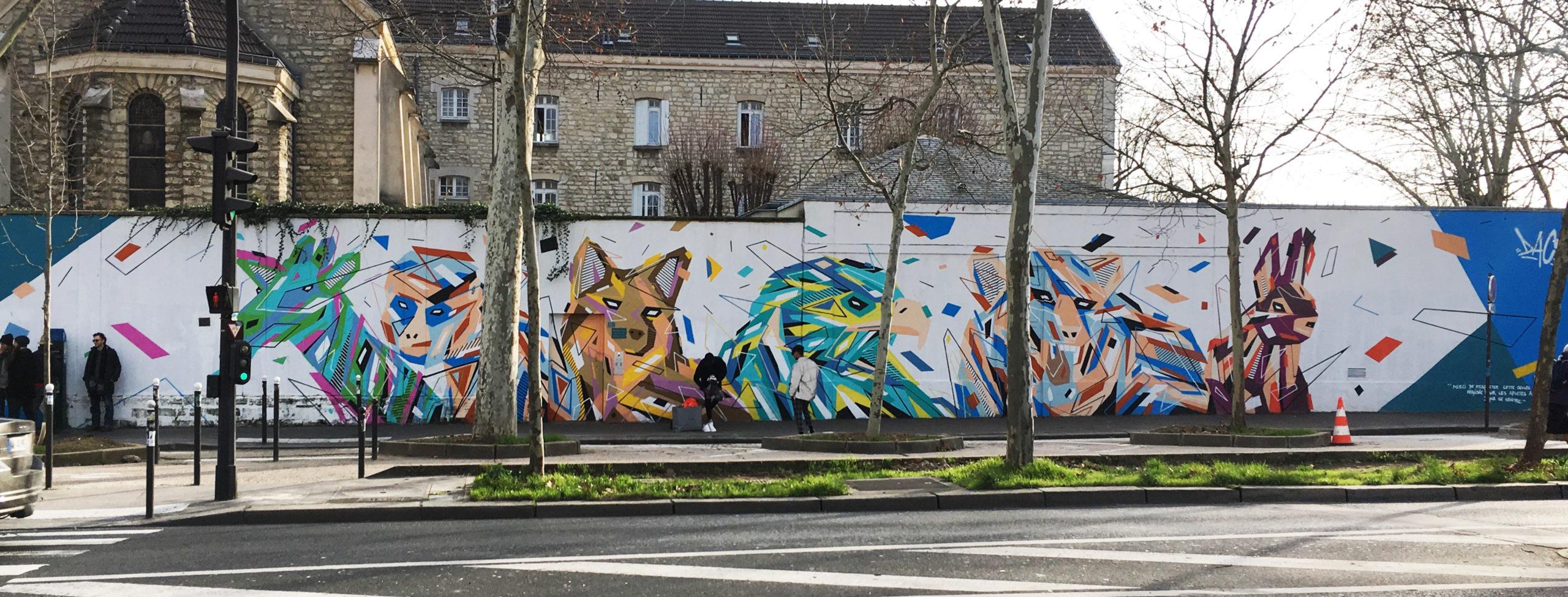 Fresque Graffaune Graffiti réalisée par Daco