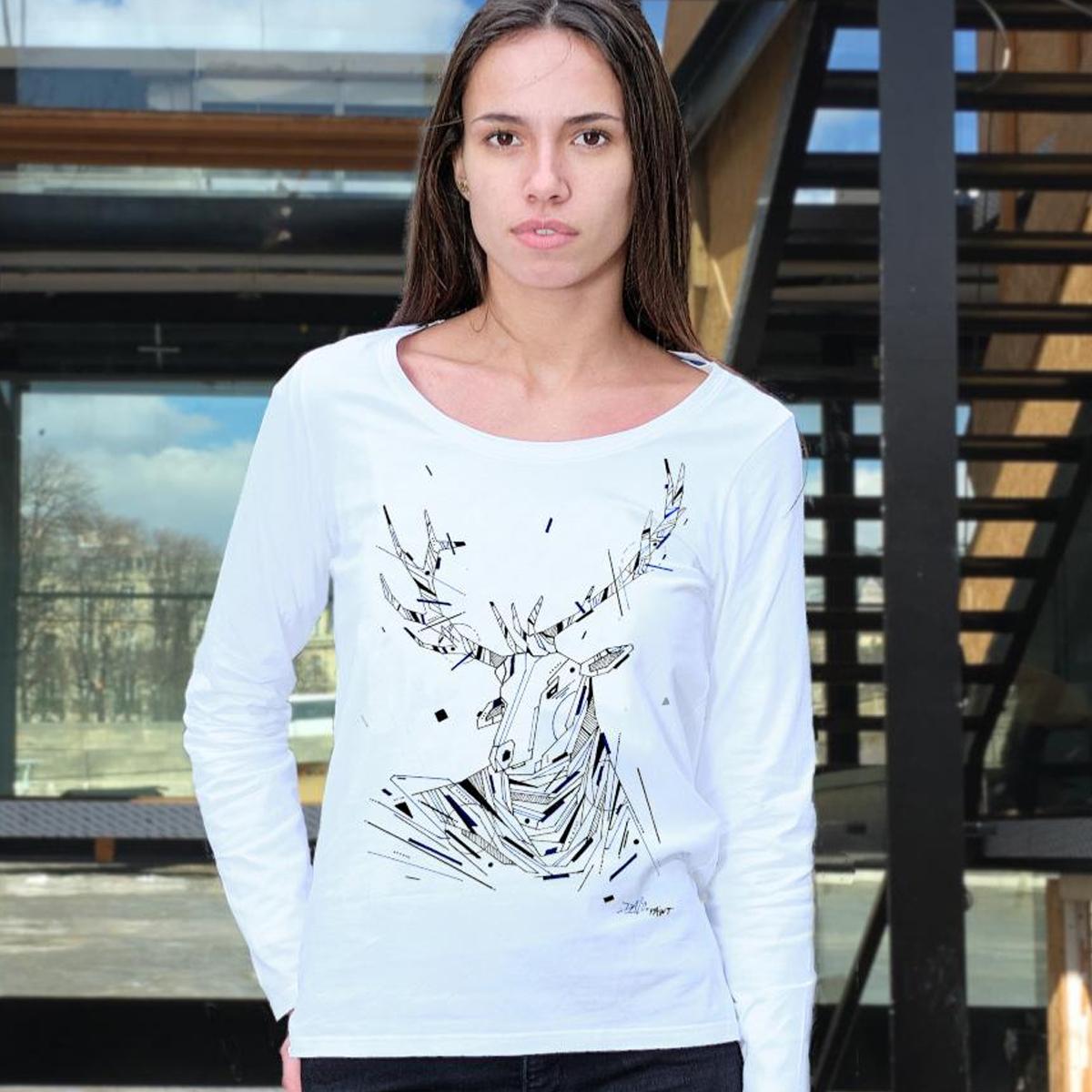 T-shirt Graffaune Graffiti cerf réalisé par Daco